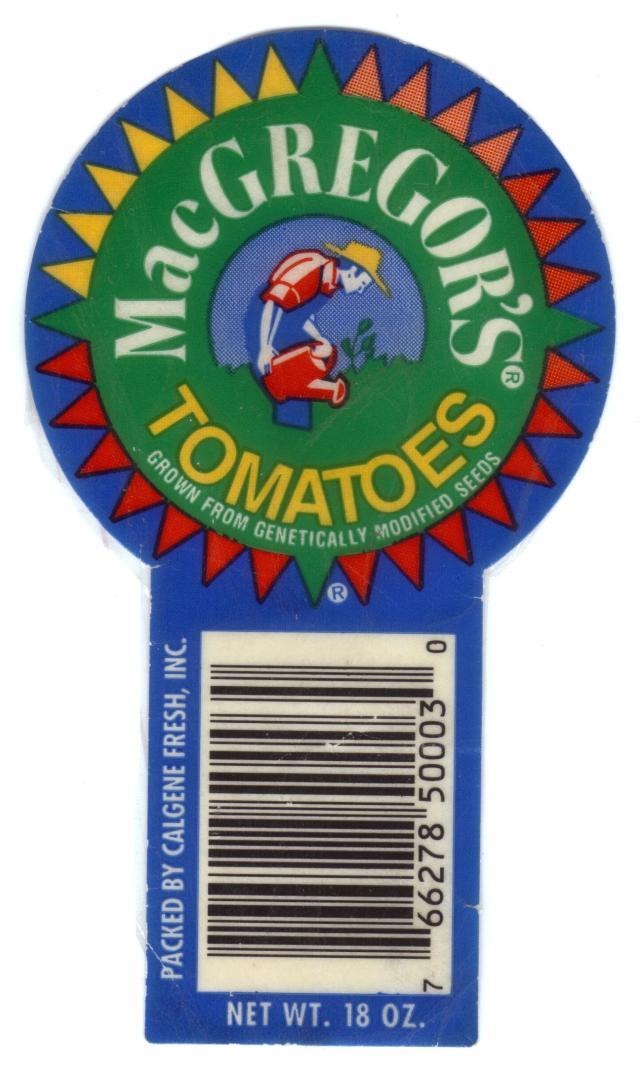 MacGregor's sticker